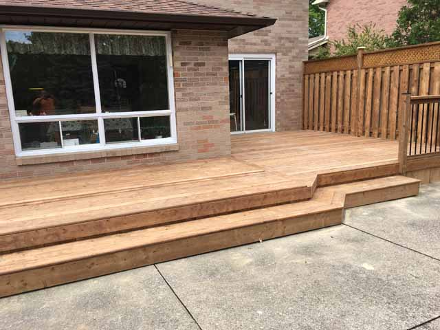 Wrap around deck steps round designs for How to build box steps